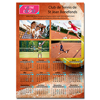 Calendrier adgraphic publicit for Calendrier mural pas cher